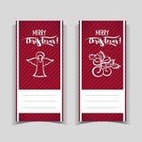 Bannières rouges de Noël images stock