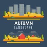 Bannières rurales d'automne de vecteur Image libre de droits