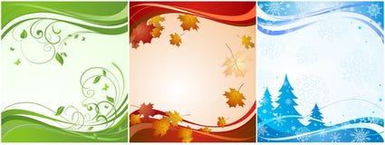 Bannières saisonnières Photos stock