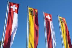 Bannières suisses Images libres de droits