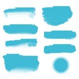 Bannières tramées bleues Photos stock