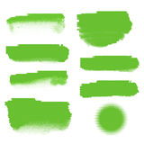 Bannières tramées vertes Image stock