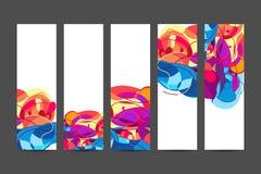 Bannières verticales colorées heureuses de Holi, beau festival indien Photographie stock libre de droits
