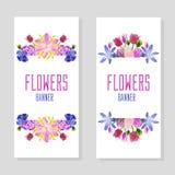 Bannières verticales de fleur photo stock