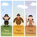 Bannières verticales de jour de thanksgiving [2] Photographie stock