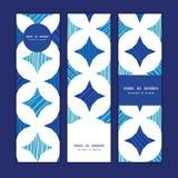 Bannières verticales de tuiles bleues de marbre de vecteur réglées Image stock