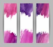 Bannières violettes Photographie stock libre de droits