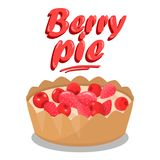 Banni?re d?licieuse de m?dias de Berry Pie Cartoon Social illustration stock
