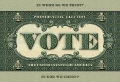 Bannière appelle des personnes pour voter Image stock