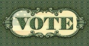 Bannière appelle des personnes pour voter Images stock