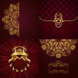 Bannière d'or élégante de cadre Image stock
