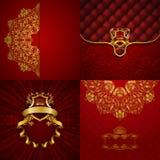 Bannière d'or élégante de cadre Photos stock