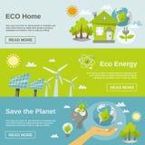 Bannière d'énergie d'Eco Images libres de droits