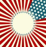 Bannière d'étoile et de rayure Photos libres de droits