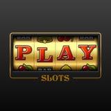 Bannière de casino de machine à sous de jeu Images stock