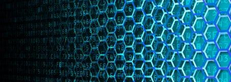 Bannière de données d'hexagone Images stock
