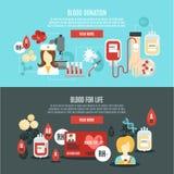 Bannière de donneur de sang Photo stock