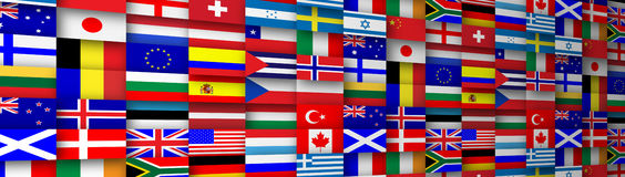 Bannière de drapeaux Image stock