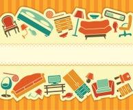 Bannière de meubles Photo stock