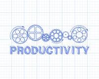 Bannière de productivité Image stock
