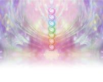 Bannière de site Web de vortex de sept Chakra Photos stock