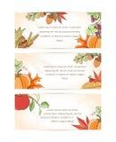 Bannière de Thanksgiving Images libres de droits