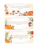 Bannière de Thanksgiving Photographie stock