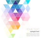Bannière géométrique abstraite de vecteur avec la triangle Photos stock
