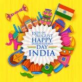 Bannière heureuse de Jour de la Déclaration d'Indépendance Photo stock