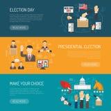 Bannière horizontale d'élection Photos stock