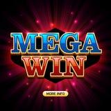 Bannière méga de casino de victoire Photographie stock libre de droits