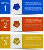 Bannière moderne d'option d'Inforgaphic Photos libres de droits