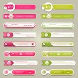 Bannière moderne d'options d'infographics Illustration de vecteur peut être employé pour la disposition de déroulement des opérat Photographie stock libre de droits