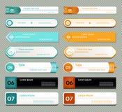 Bannière moderne d'options d'infographics. Illustration de vecteur. peut être employé pour la disposition de déroulement des opéra Photographie stock