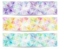 Bannière pâle de couleur Photos stock