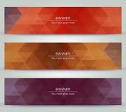 Bannière polygonale de diverse couleur Image stock