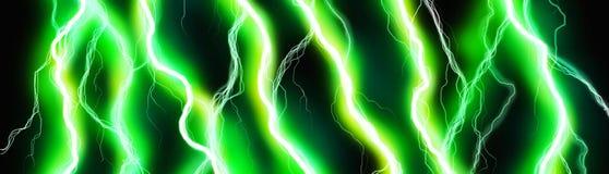 Bannière verte d'énergie Photos libres de droits