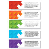 Bannières calibre de nombre d'affaires de conception moderne ou disposition de site Web Information-graphiques Vecteur Photos stock
