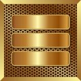 Bannières d'or Photos libres de droits