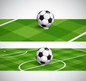Bannières de championnat du football du monde Photos libres de droits
