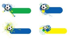 Bannières de coupe du monde Photos libres de droits