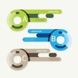 Bannières de progrès de vecteur avec les étiquettes colorées de ruban Image stock