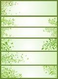 Bannières horizontales de ressort Images libres de droits