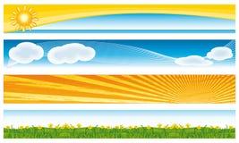 Bannières saisonnières colorées. Photographie stock libre de droits