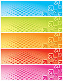 Bannières simples de flèche Images stock