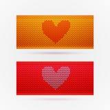Bannières tricotées avec amour Photographie stock libre de droits