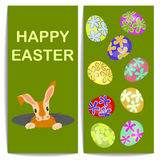 Banny end colorful Easter eggs Royalty Free Stock Photo