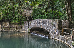 Bano Grande Pool Stone Bridge Stock Photo