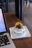 Banoffe στη καφετερία στοκ φωτογραφία με δικαίωμα ελεύθερης χρήσης