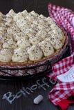 Banoffee饼 库存图片